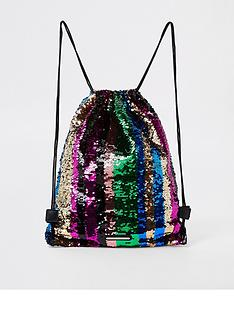 river-island-girls-rainbow-sequin-drawstring-backpack