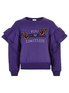 river-island-girls-purple-039limitless039-frill-sweatshirt
