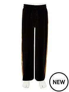 river-island-girls-black-wide-leg-velvet-tape-trousers