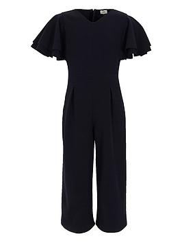 river-island-girls-navy-frill-sleeve-culotte-jumpsuit