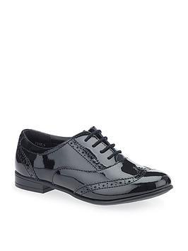 Start-Rite Start-Rite Matilda Older Girls Patent Brogue Shoe - Black Picture