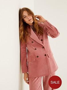 mango-corduroynbspstructured-blazer-pink