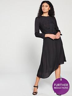 mango-mango-jacquard-leopard-print-asyemtric-dress