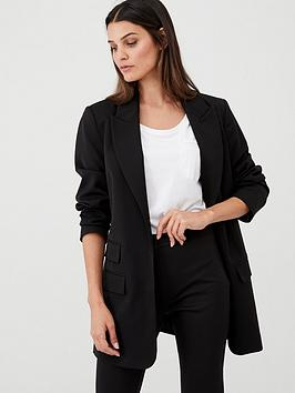 V by Very V By Very Longline Workwear Jacket - Black Picture