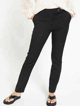 V by Very V By Very The Slim Leg Trouser - Black Picture