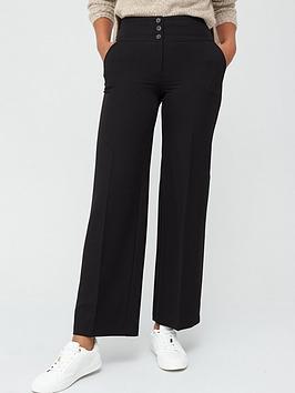 V by Very V By Very The Wide Leg Trouser - Black