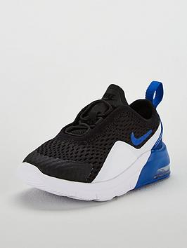 timeless design c76c1 441d5 Nike Air Max Motion 2 Infant Trainers - Black Blue