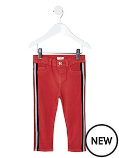 river-island-mini-girls-red-molly-tape-jeggings