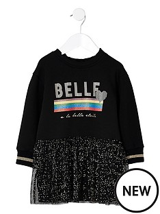 river-island-mini-girls-black-belle-glitter-sweat-dress