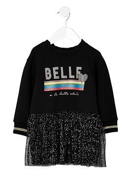 river-island-mini-girls-black-belle-glitter-sweat-dress