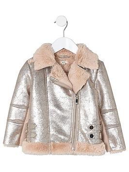 river-island-mini-girls-metallic-faux-fur-aviator-jacket