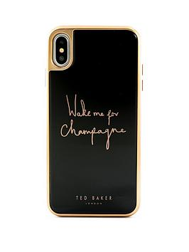 Ted Baker Ted Baker Iphone Xs Max, Glass Inlay - Champagne Black Picture