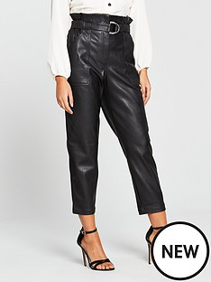 river-island-river-island-belted-pu-tapered-trouser-black