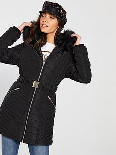 river-island-river-island-fitted-padded-jacket-black