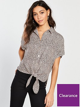 river-island-printed-casual-shirt-nude