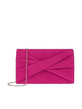 accessorize-victoria-twist-bow-clutch-fuchsianbsp