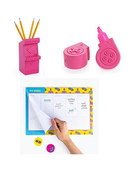 Very Mustard Power Up Notebook And Highlighter Set Picture