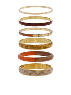 accessorize-mocha-multi-bangles
