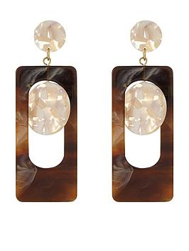 accessorize-chunky-resin-drop-earrings