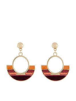 accessorize-accessorize-ribbon-inlay-short-drop-earrings
