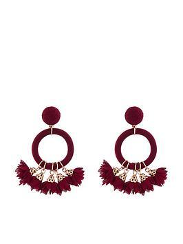 accessorize-flower-pom-earrings-ndash-burgundy