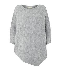 accessorize-cable-asymetric-poncho-grey