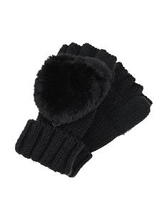 accessorize-faux-fur-capped-gloves-ndash-black
