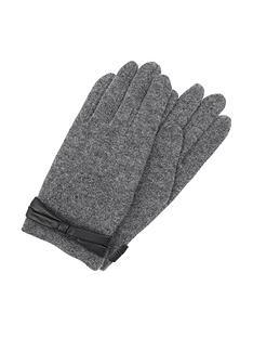 accessorize-wool-pomnbspleather-look-bow-gloves-grey