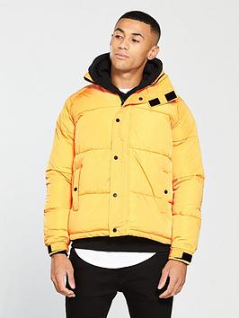 river-island-yellow-funnel-neck-padded-jacket