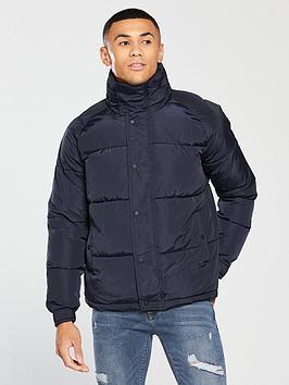 river-island-navy-funnel-neck-padded-jacket