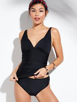 V by Very V By Very Shapewear Plunge Tankini Set - Black Picture
