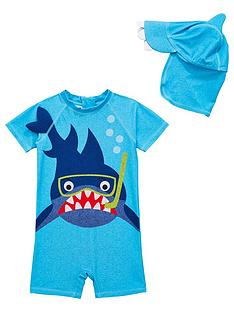mini-v-by-very-sun-safe-shark-boys-surf-suit-blue
