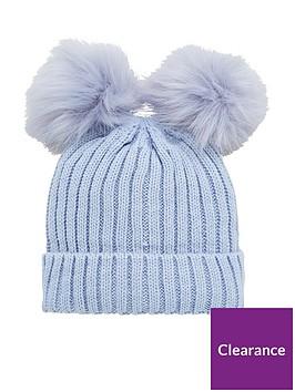 v-by-very-baby-boys-double-pom-pom-hat-baby-blue