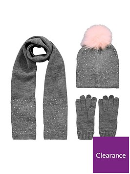 v-by-very-toddler-girls-diamante-pom-pom-hat-scarf-set