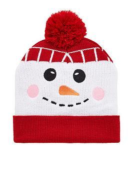 V by Very  V By Very Boys Snowman Pom Pom Christmas Hat - Multi