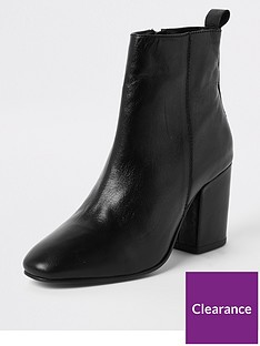 river-island-river-island-heeled-leather-ankle-boot-black