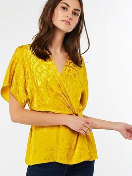 monsoon-joenie-jacquard-wrap-top-gold