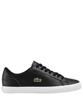 lacoste-lerond-leather-trainers-black