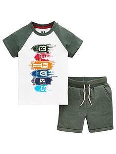 mini-v-by-very-boys-2-piece-skater-short-sleeve-t-shirt-and-jogger-shorts-outfit--nbspkhaki