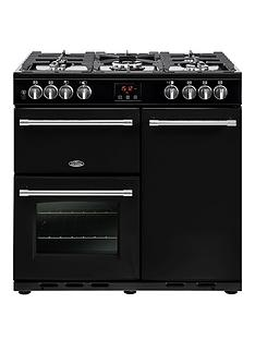 belling-90dft-farmhouse-90cm-dual-fuel-range-cooker-with-optional-connection-black