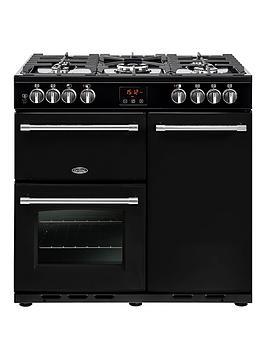 belling-90dft-farmhouse-90cm-dual-fuel-range-cooker-with-optional-connection-black