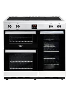 belling-90ei-belling-cookcentre-90cm-electric-range-cooker-stainless-steel-with-optional-connection