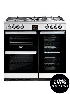 belling-90g-cookcentre-90cm-gas-range-cooker-with-optional-connection--nbspstainless-steel