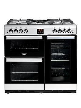Belling   90G Cookcentre 90Cm Gas Range Cooker  - Rangecooker With Connection