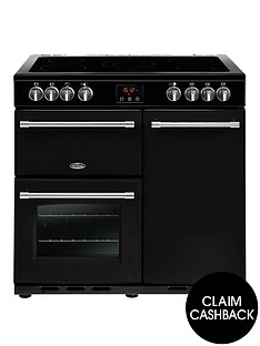 belling-90e-farmhouse-90cm-electric-range-cooker-with-optional-connection-black