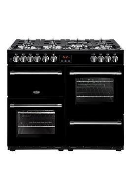 belling-100df-farmhouse-100cm-dual-fuel-range-cooker-with-optional-connection--nbspblack