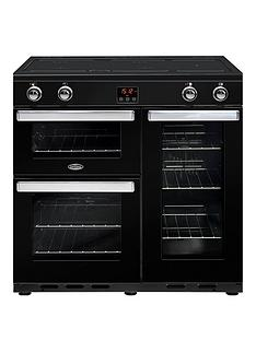 belling-90ei-belling-cookcentre-90cm-electric-range-cooker-black-with-optional-connection