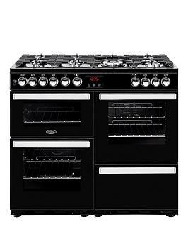 belling-100dft-cookcentre-100cm-dual-fuel-range-cooker-with-optional-connection-black