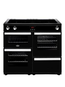 belling-100ei-cookcentre-100cm-electric-range-cooker-with-optional-connection-black