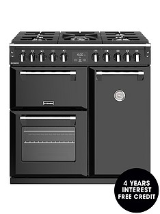 stoves-richmond-s900df-dual-fuel-90cm-wide-range-cooker-black-with-optional-connection